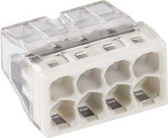 WAGO Transparante lasklem 8 voudig grijs - doos á 50 stuks