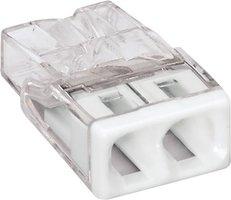 WAGO Transparante lasklem 2 voudig wit- doos á 100 stuks